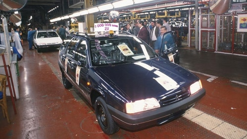 Production de la millionième Citroën ZX